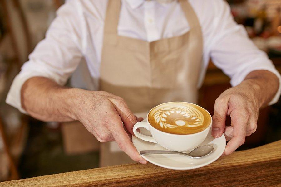 бариста рисунок на кофе